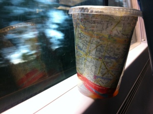 map in a cup
