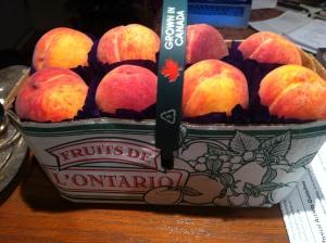 Ontario peaches first basket