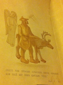 fresco of reindeer herder