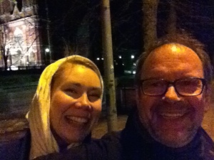 Mari and Matthew selfie Helsinki
