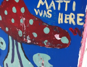 Matti was here graffiti