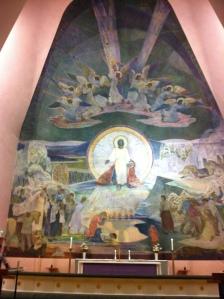 Rovaniemi church fresco