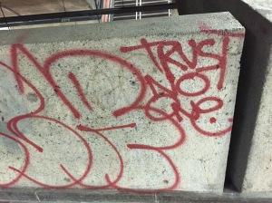 trust no one graffitti