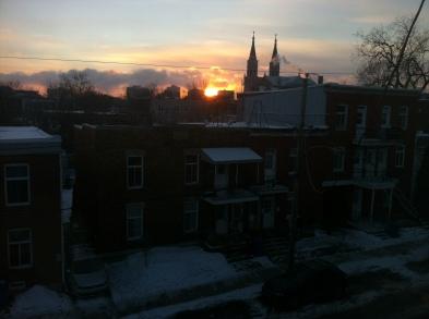 cold mornings in Jan